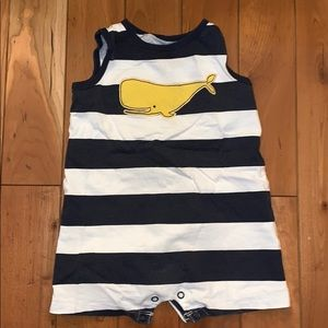 Carter's One Pieces - EUC Carter's Striped Whale Onesie